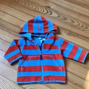 Baby Boden terry cloth zip up